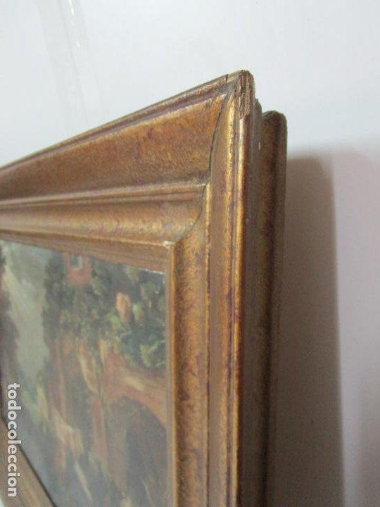 Arte: Antigua Pintura - Escuela Flamenca - Paisaje con Ganado, Reflejos de Sol - S. XVIII - Foto 11 - 190149192