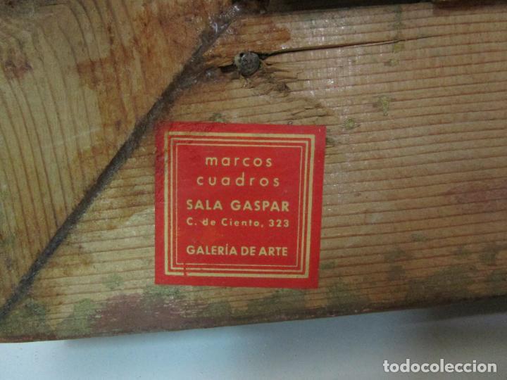 Arte: Antigua Pintura - Escuela Flamenca - Paisaje con Ganado, Reflejos de Sol - S. XVIII - Foto 13 - 190149192