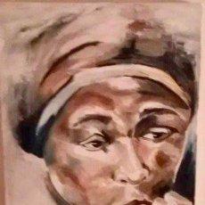 Arte: RETRATO. MUJER AFRICANA. SUDÁFRICA. ÓLEO SOBRE LIENZO.. Lote 190164588