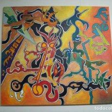Arte: PINTURA ORIGINAL AL OLEO TXIPIRONES EN SU TINTA. Lote 190171865