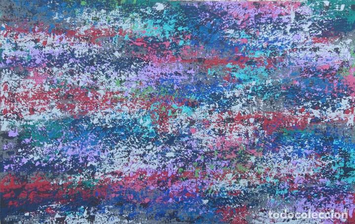 PINTURA ABSTRACTA RECIENTE DE JOSE SANZ SALA REALIZADA SOBRE TABLERO ( SOLO RECOGIDA ) (Arte - Pintura - Pintura al Óleo Contemporánea )