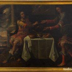 Arte: ESCUELA COLONIAL , S.XVII. JACOB Y ESAÚ. Lote 190280767