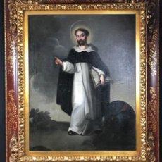 Arte: SAN VICENTE FERRER ÓLEO SOBRE LIENZO ( 80 X 60CM) SIGLO XVIII . Lote 190290708