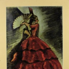Arte: MAJA, PUBLICIDAD PARA MYRURGIA, ATRIBUIDO A EDUARD JENER, TÉCNICA DESCONOCIDA SOBRE CARTÓN.. Lote 190332328