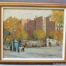 Arte: JOAQUIN ASENSIO, VISTA URBANA, PINTURA AL ÓLEO SOBRE TABLA, FIRMADA, CON MARCO. 46X38CM. Lote 190337115