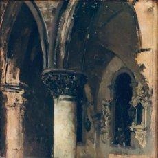 Arte: OLEO SOBRE TABLA FINALES SIGLO XIX PRIMER CUARTO SIGLO XX. Lote 190355948