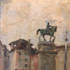 Arte: OLEO SOBRE TABLA FINALES SIGLO XIX PRIMER CUARTO SIGLO XX. Lote 190356206