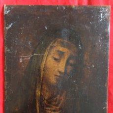 Arte: ÓLEO SOBRE COBRE VIRGEN SIGLO XVIII. Lote 190363012