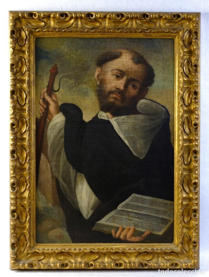 ÓLEO SOBRE LIENZO FRANCISCANO ESCUELA ESPAÑOLA SIGLO XVII (Arte - Pintura - Pintura al Óleo Antigua siglo XVII)
