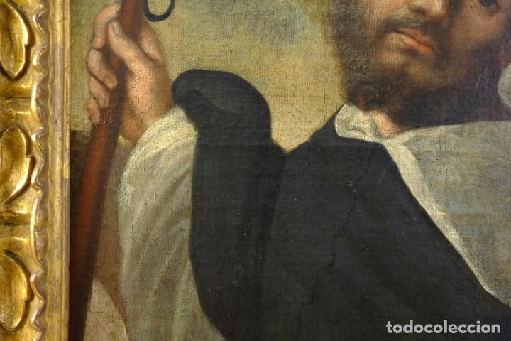 Arte: Óleo sobre lienzo Franciscano Escuela española siglo XVII - Foto 4 - 190377222