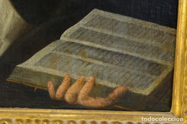 Arte: Óleo sobre lienzo Franciscano Escuela española siglo XVII - Foto 5 - 190377222