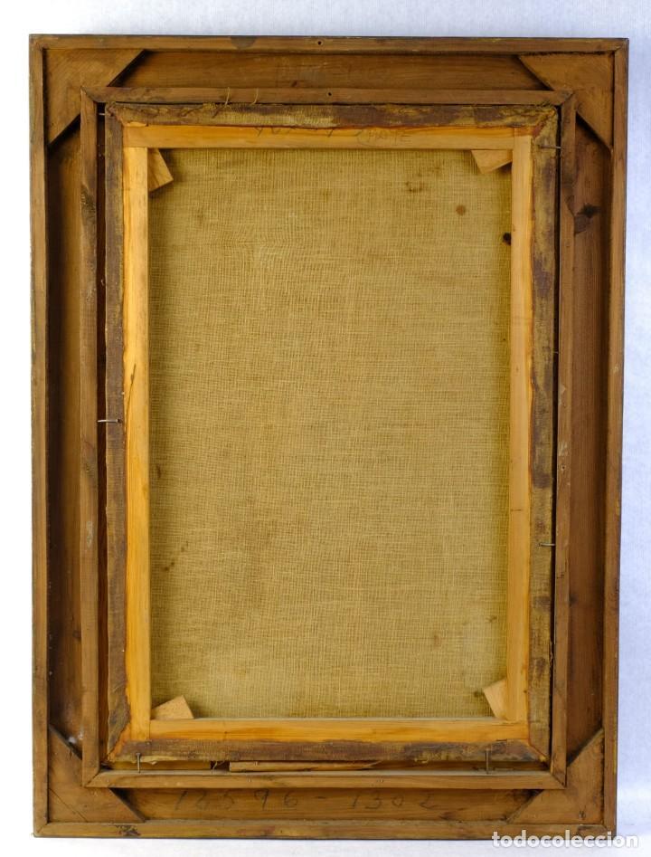 Arte: Óleo sobre lienzo Franciscano Escuela española siglo XVII - Foto 6 - 190377222