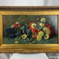 Arte: ESPECTACULAR ÓLEO SOBRE TELA- CAYO G. ZUNZARREN-1873-1927- ARTISTA ESPECIALIZADO EN FLORES.. Lote 190421995
