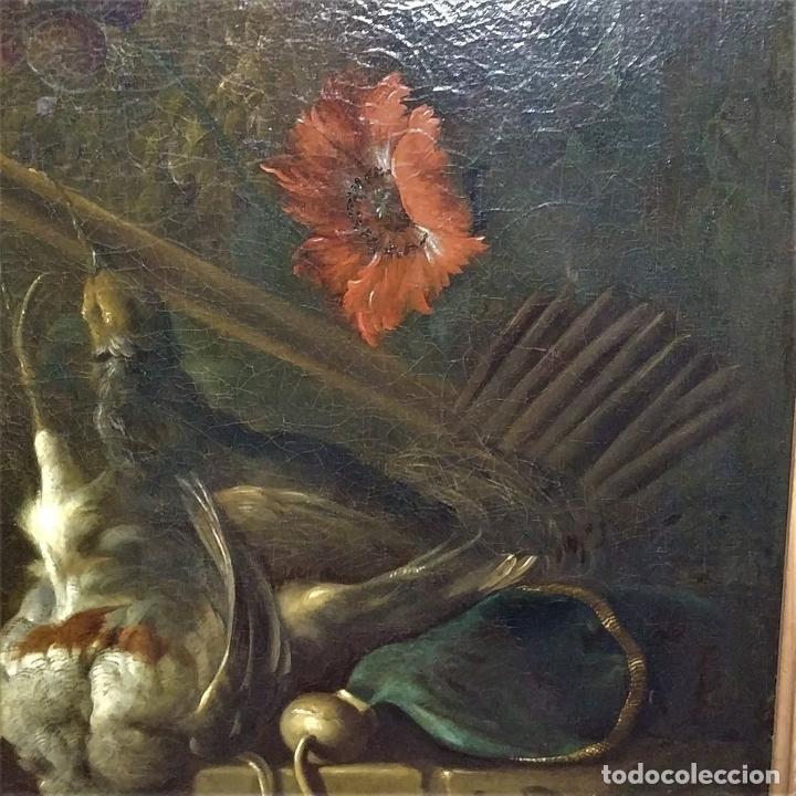 Arte: NATURALEZA MUERTA Y PAISAJE. ÓLEO SOBRE LIENZO. ATRIBUIDO JAN WEENIX. PAISES BAJOS. SIGLO XVII - Foto 5 - 190442588