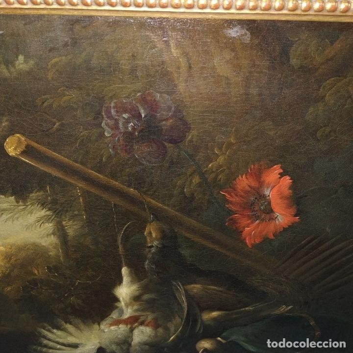 Arte: NATURALEZA MUERTA Y PAISAJE. ÓLEO SOBRE LIENZO. ATRIBUIDO JAN WEENIX. PAISES BAJOS. SIGLO XVII - Foto 16 - 190442588