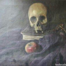 Arte: ÓLEO SOBRE LIENZO VANITAS PINTADO EN LAS DOS CARAS, FINALES DEL SIGLO XIX PP. XX. VALENCIA ?. Lote 190444878