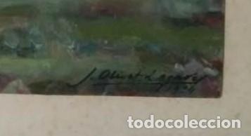 Arte: Oleo de Josep Olivet Legares. Firmado. 1934. - Foto 3 - 135589862