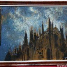 Arte: OLEO SOBRE TABLEX CATEDRAL DE MILÁN. IL DUOMO DI MILANO. Lote 190558950