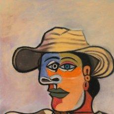 Arte: DOMINGO - PASTEL THE SAILOR HOMENAJE A PICASSO ENMARCADA. Lote 190236925