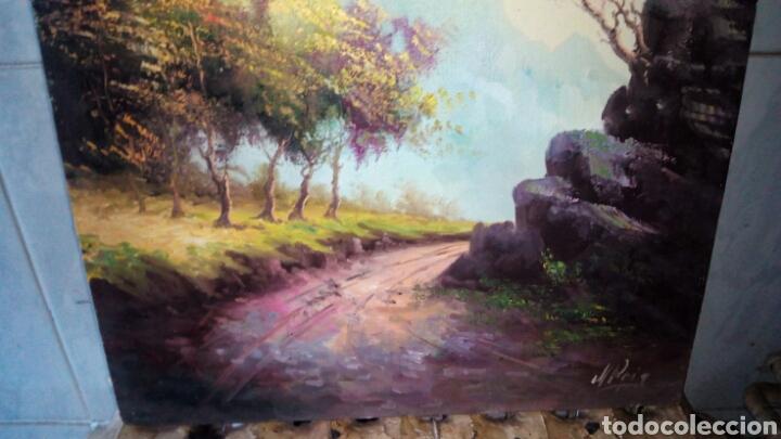 Arte: Cuadro oleo sobre lienzo, firmado. - Foto 2 - 190611607