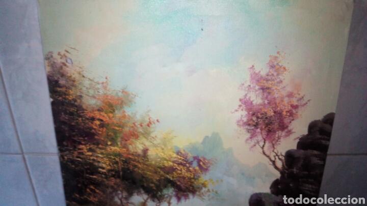 Arte: Cuadro oleo sobre lienzo, firmado. - Foto 3 - 190611607