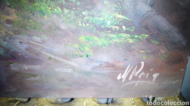 Arte: Cuadro oleo sobre lienzo, firmado. - Foto 4 - 190611607