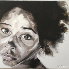 Arte: RETRATO. FEMENINO. INFANTIL. OLEO SOBRE LIENZO. AFRICA. SUDAFRICA. 90 CM X 70 CM. Lote 190775686
