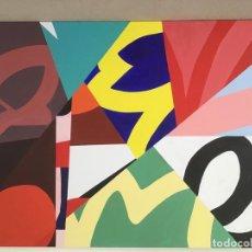 Arte: GEOMÉTRICO. COLORES. ACRILICO SOBRE LIENZO. 100 CM X 81 CM.. Lote 190775861