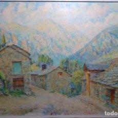 Arte: EXCELENTE ÓLEO SOBRE TELA DE JOAN SOLER PUIG(BCN 1906-1984).GRAN FORMATO Y COLORIDO.. Lote 190778422