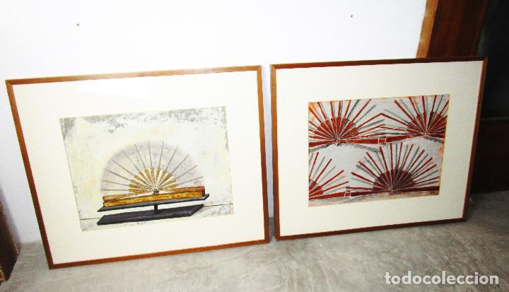 CUADROS 88X73 CARMEN GRAU OBRA ORIGINAL SERIE ABANICOS, ARTE CONTEMPORANEO, IVAM (Arte - Pintura - Pintura al Óleo Contemporánea )