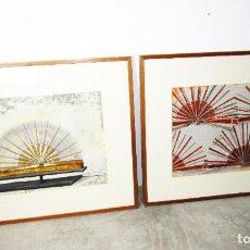 Arte: CUADROS 88X73 CARMEN GRAU OBRA ORIGINAL SERIE ABANICOS, ARTE CONTEMPORANEO, IVAM. Lote 190782622
