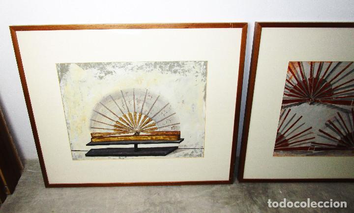 Arte: CUADROS 88X73 CARMEN GRAU OBRA ORIGINAL SERIE ABANICOS, ARTE CONTEMPORANEO, IVAM - Foto 2 - 190782622