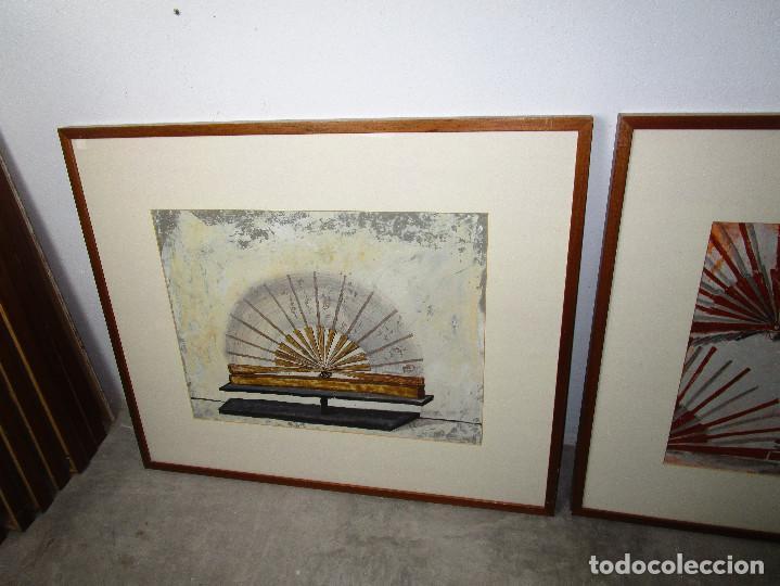 Arte: CUADROS 88X73 CARMEN GRAU OBRA ORIGINAL SERIE ABANICOS, ARTE CONTEMPORANEO, IVAM - Foto 3 - 190782622