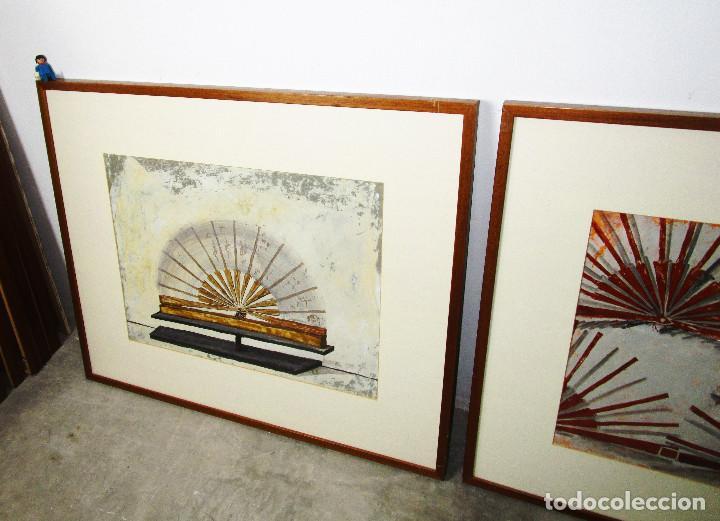 Arte: CUADROS 88X73 CARMEN GRAU OBRA ORIGINAL SERIE ABANICOS, ARTE CONTEMPORANEO, IVAM - Foto 4 - 190782622