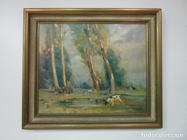 Arte: Óleo sobre Tela - Ramón Barnadas (Olot 1909 - Girona 1981) - Paisaje - Escuela de Olot - Año 1943 - Foto 2 - 190794787
