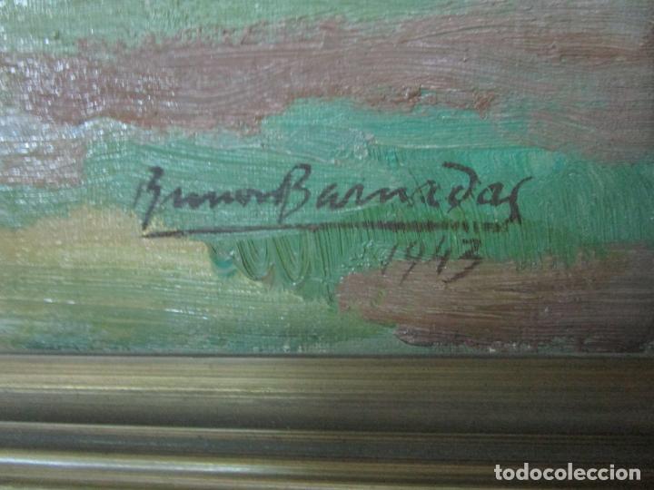 Arte: Óleo sobre Tela - Ramón Barnadas (Olot 1909 - Girona 1981) - Paisaje - Escuela de Olot - Año 1943 - Foto 3 - 190794787