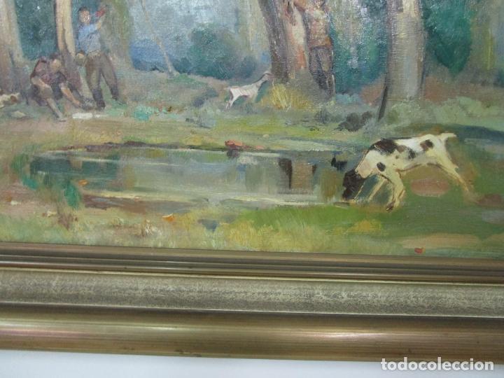 Arte: Óleo sobre Tela - Ramón Barnadas (Olot 1909 - Girona 1981) - Paisaje - Escuela de Olot - Año 1943 - Foto 4 - 190794787