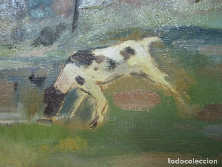 Arte: Óleo sobre Tela - Ramón Barnadas (Olot 1909 - Girona 1981) - Paisaje - Escuela de Olot - Año 1943 - Foto 5 - 190794787