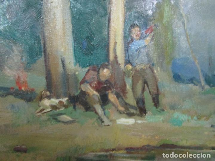 Arte: Óleo sobre Tela - Ramón Barnadas (Olot 1909 - Girona 1981) - Paisaje - Escuela de Olot - Año 1943 - Foto 6 - 190794787