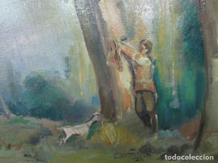 Arte: Óleo sobre Tela - Ramón Barnadas (Olot 1909 - Girona 1981) - Paisaje - Escuela de Olot - Año 1943 - Foto 7 - 190794787