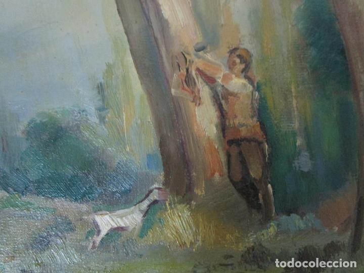 Arte: Óleo sobre Tela - Ramón Barnadas (Olot 1909 - Girona 1981) - Paisaje - Escuela de Olot - Año 1943 - Foto 8 - 190794787