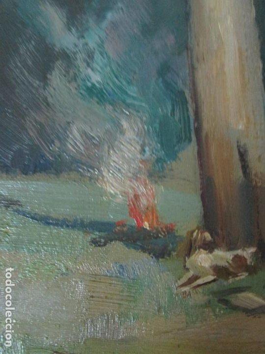 Arte: Óleo sobre Tela - Ramón Barnadas (Olot 1909 - Girona 1981) - Paisaje - Escuela de Olot - Año 1943 - Foto 10 - 190794787