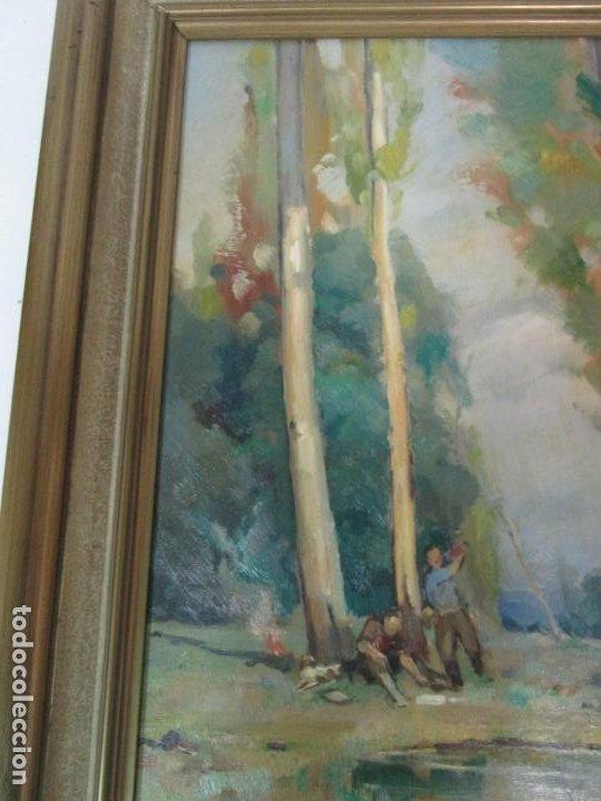 Arte: Óleo sobre Tela - Ramón Barnadas (Olot 1909 - Girona 1981) - Paisaje - Escuela de Olot - Año 1943 - Foto 11 - 190794787