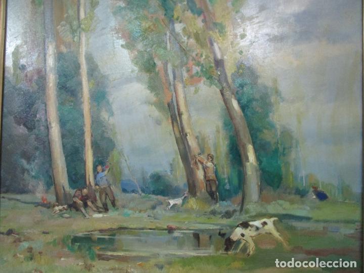 Arte: Óleo sobre Tela - Ramón Barnadas (Olot 1909 - Girona 1981) - Paisaje - Escuela de Olot - Año 1943 - Foto 12 - 190794787