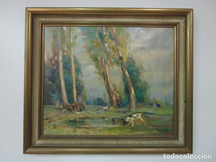 Arte: Óleo sobre Tela - Ramón Barnadas (Olot 1909 - Girona 1981) - Paisaje - Escuela de Olot - Año 1943 - Foto 17 - 190794787
