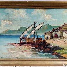Arte: F.DOMINGUEZ / ORIGINAL ÓLEO SOBRE TABLA 68/40CM. Lote 190799485