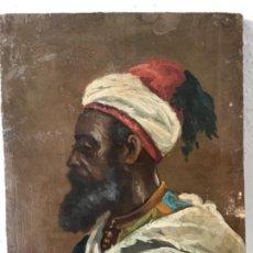 Arte: RETRATO ORIENTALISTA- OLEO SOBRE MADERA. JOSEP TAPIRÓ? FINALES S.XIX.. Lote 190800152