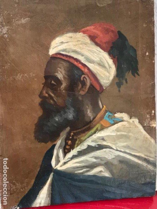 Arte: RETRATO ORIENTALISTA- OLEO SOBRE MADERA. JOSEP TAPIRÓ? FINALES S.XIX. - Foto 2 - 190800152
