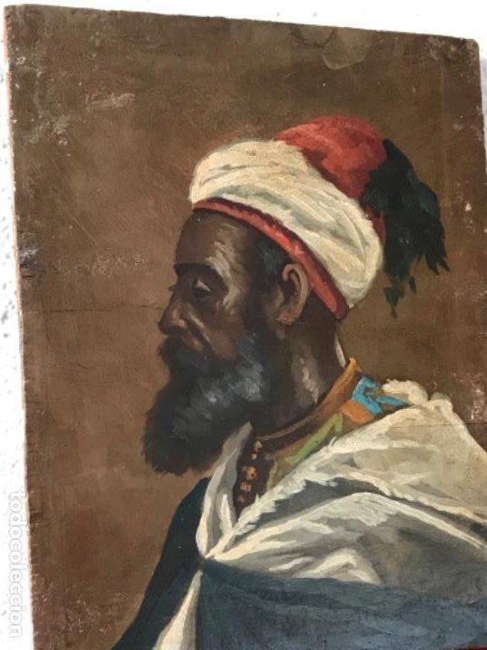 Arte: RETRATO ORIENTALISTA- OLEO SOBRE MADERA. JOSEP TAPIRÓ? FINALES S.XIX. - Foto 5 - 190800152