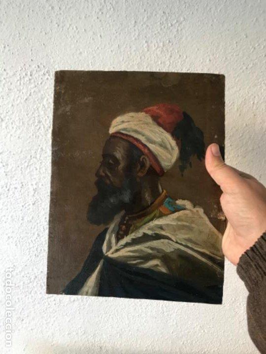 Arte: RETRATO ORIENTALISTA- OLEO SOBRE MADERA. JOSEP TAPIRÓ? FINALES S.XIX. - Foto 6 - 190800152